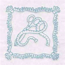 Sewing Scissor Block embroidery design