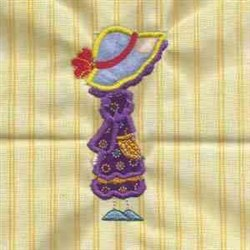 Applique Bonnet Girl embroidery design