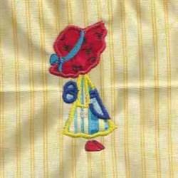 Applique Girl embroidery design