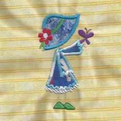 Sunbonnet Applique embroidery design