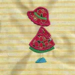 Applique Girl embroidery design