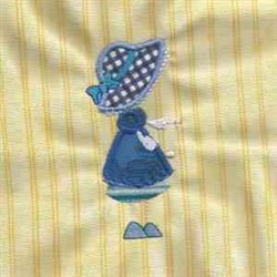 Applique Sunbonnet embroidery design
