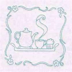 Tea Block embroidery design