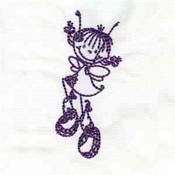 Happy Fairy embroidery design