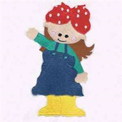 Little Girl embroidery design