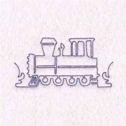 Redwork Train embroidery design