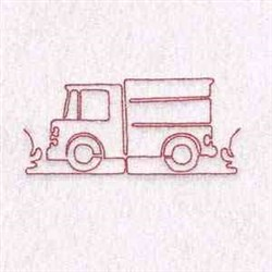Redwork Truck embroidery design