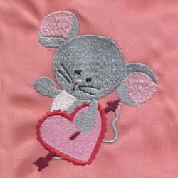 Valentine Mouse embroidery design