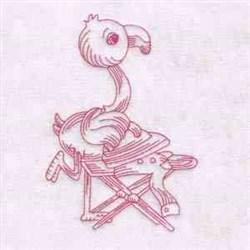 Flamingo Ironing embroidery design