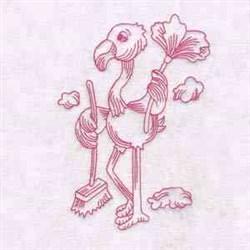 Housework Flamingo embroidery design