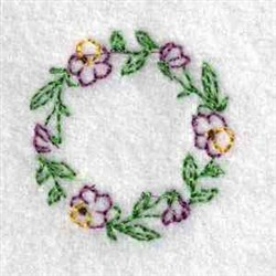 Floral Jar Cover embroidery design