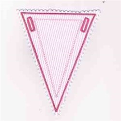 Blank Triangle Banner embroidery design