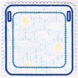Blank Square Banner embroidery design
