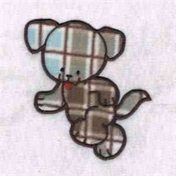 Plaid Puppy embroidery design