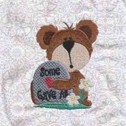 Some Gave All Bear embroidery design
