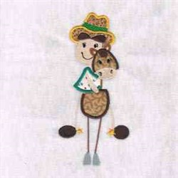 Cowboy On Horse embroidery design