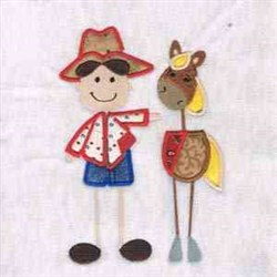 Horse &  Cowboy embroidery design