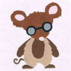 Brown Blind Mouse embroidery design