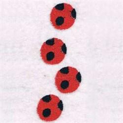 Ladybug Feet embroidery design
