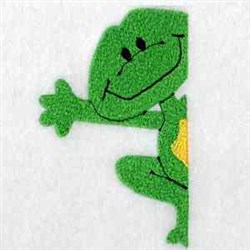 Frog Pocket embroidery design