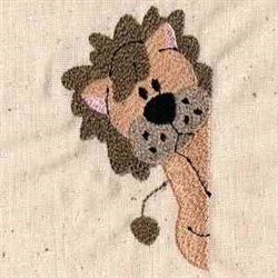 Lion Pocket embroidery design