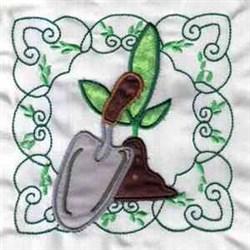 Applique Garden embroidery design