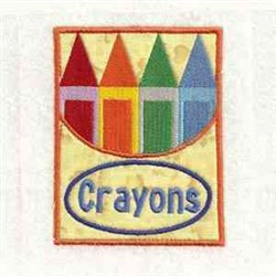 Crayons Applique embroidery design