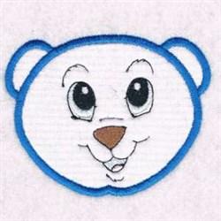 Applique Bear Head embroidery design