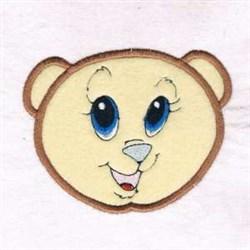 Happy Bear Applique embroidery design
