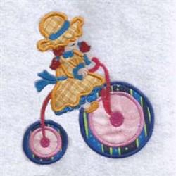 Trike Girl Applique embroidery design