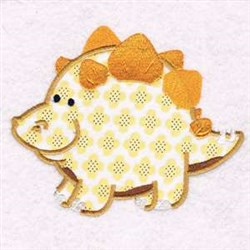 Applique Chubby Dinosaur embroidery design