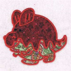 Dino Applique embroidery design