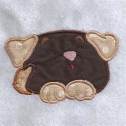 Applique Chubby Puppy embroidery design