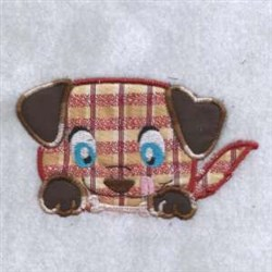 Applique Chubby Dog embroidery design