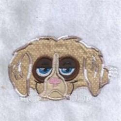 Applique Sad Puppy embroidery design