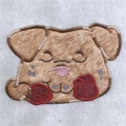 Applique Sleepy Puppy embroidery design