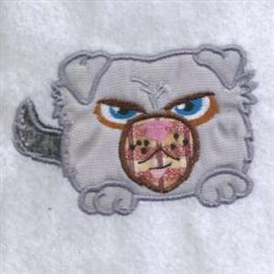 Applique Angry Puppy embroidery design