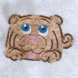 Applique Puppy Dog embroidery design