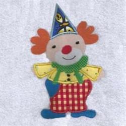 Funny Clown Applique embroidery design