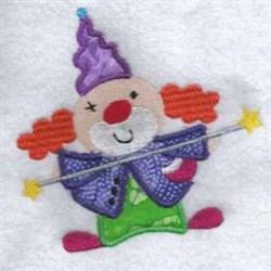 Applique Clown Wand embroidery design