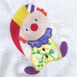 Sad Clown Applique embroidery design