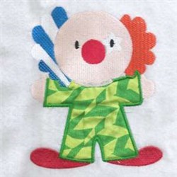 Applique Clown embroidery design