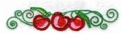 Cherry Swirl Border embroidery design