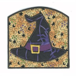 Bag Witch Hat Applique embroidery design
