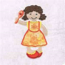 Fancy Girl Applique embroidery design