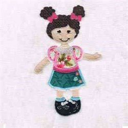 Girl Applique embroidery design
