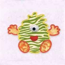 Applique Monster Cyclops embroidery design