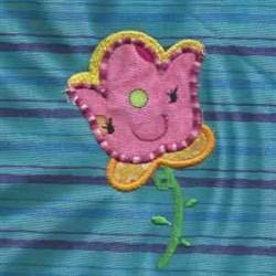 Applique Flower Tulip embroidery design