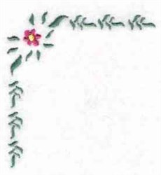 Floral Linen Border embroidery design