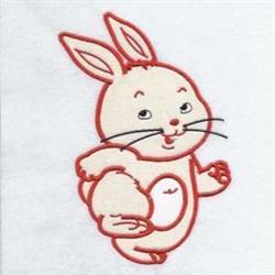 Applique Bunny Rabbit embroidery design